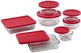 Pyrex 14-Piece Storage Set with Red Lids
