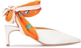Giannico Point-Toe Ankle-Wrap Pumps