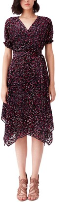 Diane von Furstenberg Katherine Velvet Burnout Wrap Dress