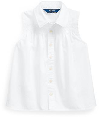 Ralph Lauren Smocked Cotton Shirt