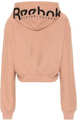 Reebok x Victoria Beckham Cropped cotton hoodie