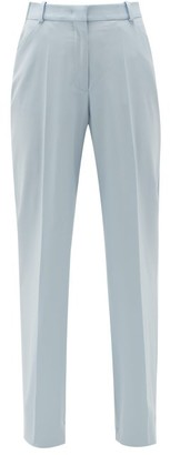 Another Tomorrow - High-rise Wool Flared Trousers - Light Blue