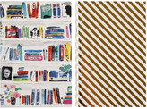 Kate Spade Notebook Set - Gold Stripe/Bookshelf