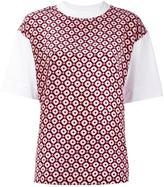 Marni Tracery print T-shirt - women - Cotton/Silk - 36