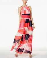 Vince Camuto Printed Keyhole Maxi Dress