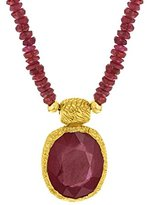 Jade Jagger Maiden Ruby Sterling Silver with Gold Vermeil Pendant with Chain of 42 cm
