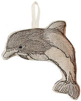 "Coral & Tusk 5"" Dolphin Ornament - Gray/Natural"