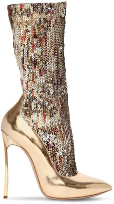 Casadei 120mm The Party Blade Sequined Boots
