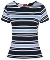 T-shirt à rayures en viscose