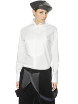 Giorgio Armani Cotton Piquet And Poplin Tuxedo Shirt