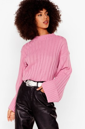 Nasty Gal Womens Warm Up Mock Jumper - Pink - M/L, Pink