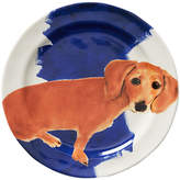 Anthropologie Sally Muir Dog-a-Day Dessert Plate, Dia.21.5cm, Dachshund