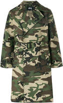 Stussy camouflage trench coat