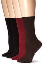 Hue Women's One Size Rib Dress Socks 4 Pk