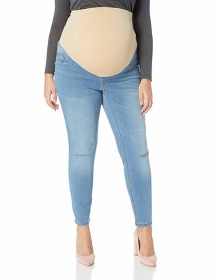 Motherhood Maternity Women's Maternity Indigo Blue Plus-Size Secret Fit Belly Ankle Denim Jegging