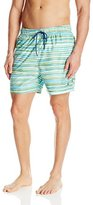 Nautica Men's Watercolor Print Swim Trunk