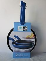 Martha Stewart Collection Nonstick Ombre 7 & 9 Blue Fry Pan Set