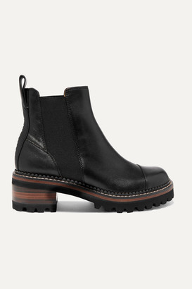 See by Chloe Leather Chelsea Platform Boots - Black