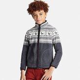 Uniqlo Boys Fleece Printed Full-Zip Long Sleeve Jacket