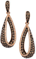 Effy Diamond Teardrop Earrings (1-1/3 ct. t.w.) in 14k Rose Gold