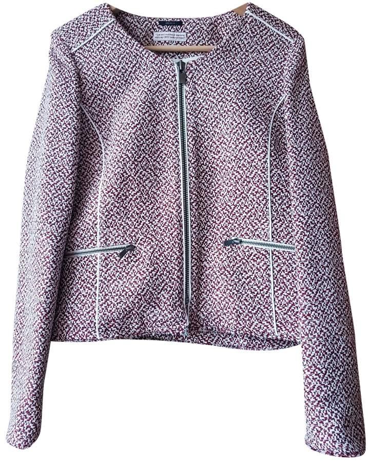 Ikks Burgundy Cotton Jacket for Women