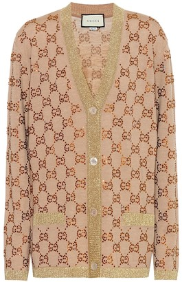 Gucci GG embellished wool cardigan