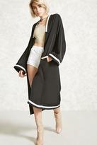 Forever 21 Varsity Stripe Longline Kimono
