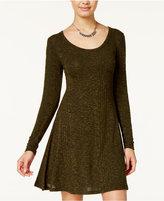 Ultra Flirt Juniors' Heathered A-Line Sweater Dress