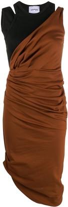 Lourdes Asymmetric Ruched Midi Dress