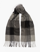 Paul Smith Grey Checked Cashmere Scarf