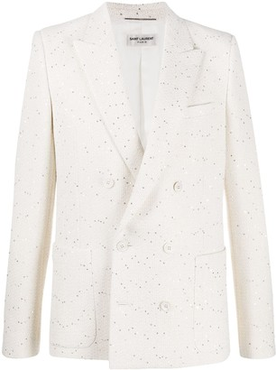 Saint Laurent Sequinned Double-Breasted Blazer