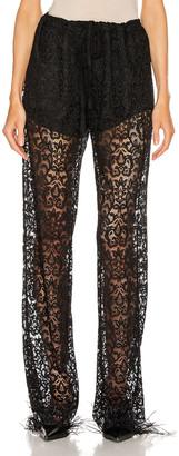 Marques Almeida Marques ' Almeida Lace Pyjama Trouser Pant in Black | FWRD