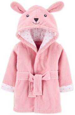 Carter's Baby Girls Hooded Cotton Bunny Bathrobe