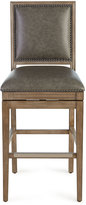 Horchow Collin Leather Swivel Counter Stool