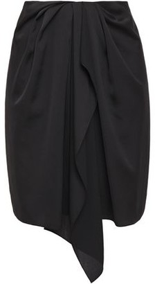 Nina Ricci Wrap-effect Draped Satin-crepe Mini Skirt