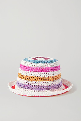 Missoni Striped Crochet-knit Bucket Hat - White