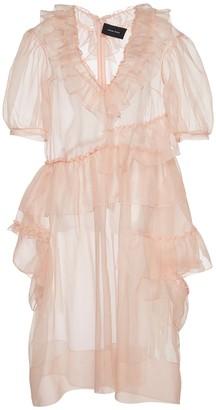 Simone Rocha Silk Organza Ruffle Dress