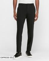 Express Slim Black Luxe Comfort Knit Suit Pant