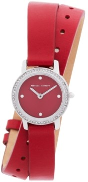 Rebecca Minkoff Women's Major Red Leather Strap Watch 22mm