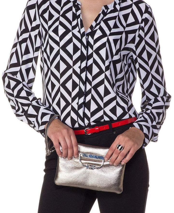Sondra Roberts convertible leather clutch