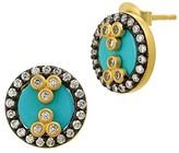 Freida Rothman Turquoise Slice Stud Earrings