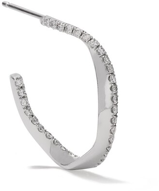 COMPLETEDWORKS 18kt white gold Elegy for W.W diamond hoop earring
