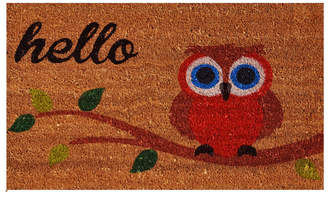 """Elf Owl Hello 17"""" x 29"""" Coir/Vinyl Doormat Bedding"""