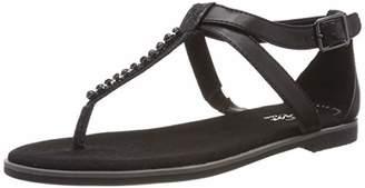Clarks Women's Bay Poppy T-Bar Sandals, Black (Black Interest