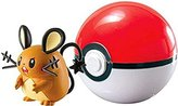 Pokemon Clip n Carry Pokeball Dedenne & Poke Ball Figure Set