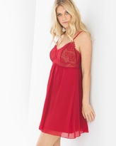 Soma Intimates Breathtaking Sleep Chemise Ruby/Soft Tan
