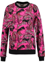 Just Cavalli Printed Cotton-Blend Jersey Sweatshirt