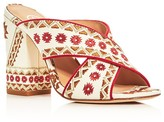 Ash Adel Embroidered Crisscross High Heel Slide Sandals