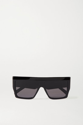 Celine Oversized D-frame Acetate Sunglasses - Black