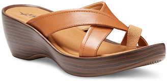 Eastland Women's Sandals TAN - Tan Willow Leather Heeled Sandal - Women